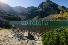 Mountain lake in Tatra Mountains