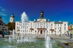 cityhall in old town of Plock, Warsaw