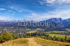 View from Gubalowka on the Tatra Mountains, Poland.