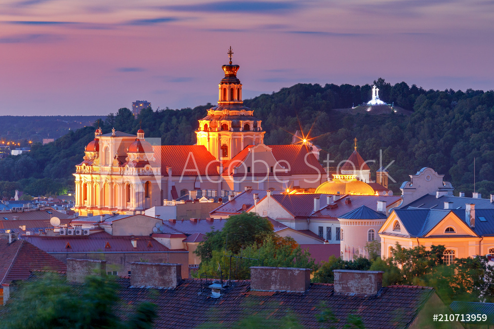 Vilnius. Aerial view of the city.
