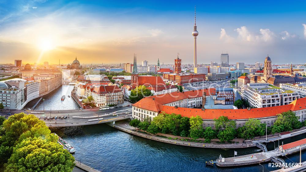 Panorama Berlina na płótnie