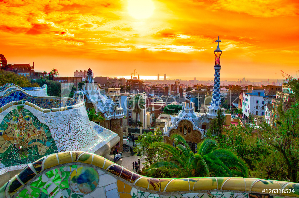 Widok na Barcelone z Park Guell