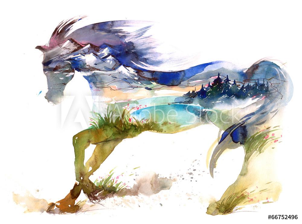 obraz malowany ze zwierzetami