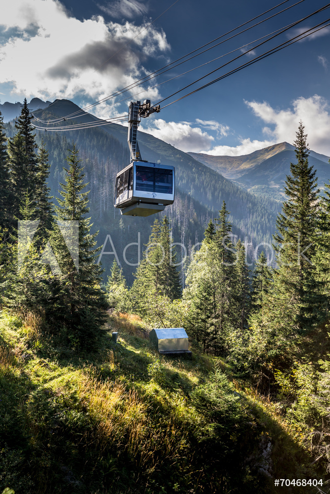 Cable car in Kasprowy Wierch peak in Tatra mountains, Poland.