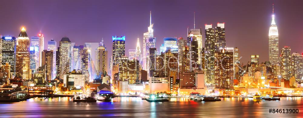 panorama miasta na płótnie
